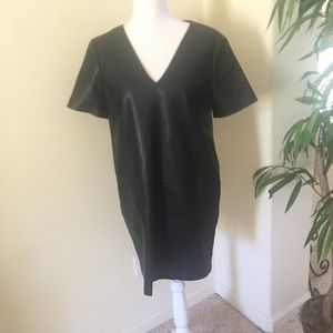 Zara Faux Leather Sheath Dress